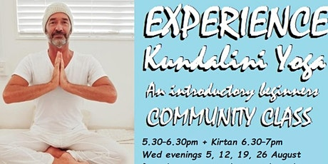 Experience Kundalini Yoga - An introductory beginners community class tickets