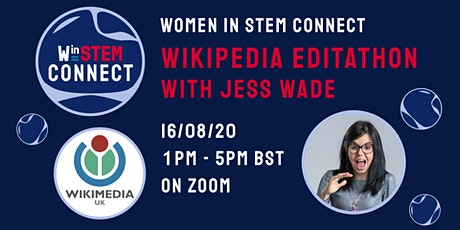 Women in STEM Connect: a Wikipedia editing event celebrating Women in STEM tickets
