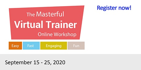 Masterful Virtual Trainer Online Workshop Sept 15 2020 (3) tickets
