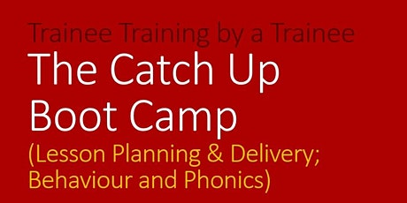 Trainee Training by a Trainee: Catch-Up Boot Camp tickets