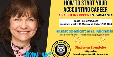 How To Start Your Accounting Career As A Bookkeeper in Tasmania tickets