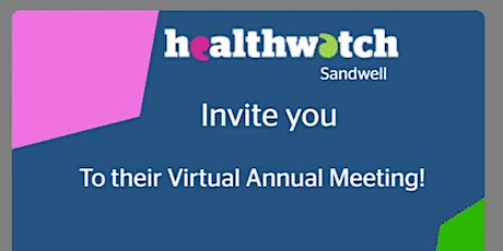 Healthwatch Sandwell's AGM tickets