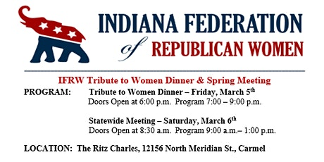 IFRW Tribute to Women Dinner tickets