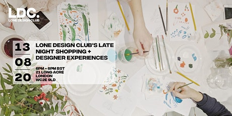 Lone Design Club: Late Night Shopping + Still Life Drawing tickets