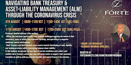 Navigating Bank Treasury &  ALM Through the Coronavirus Crisis tickets