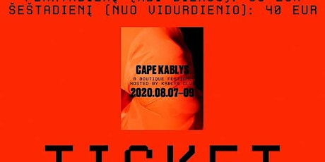 Cape Kablys 2020 tickets