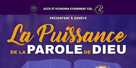 LA PUISSANCE DE LA PAROLE DE DIEU tickets