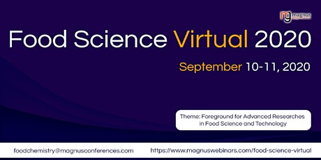2nd Edition of Food Science Virtual 2020 tickets
