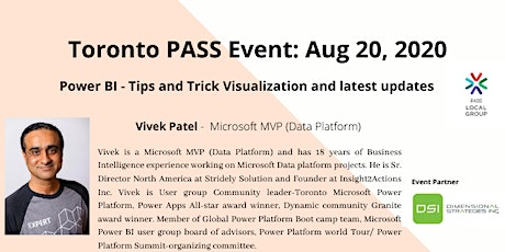 Toronto PASS: Power BI - Tips and Trick Visualization and latest updates tickets