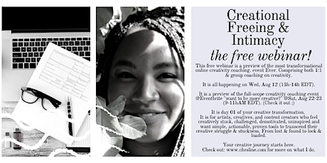 Want to be more creative? Free Webinar on creativity unlocking and boosting tickets
