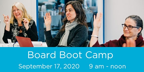 Board Boot Camp (Virtual) - September 17, 2020 tickets