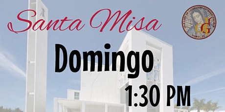 1:30 PM - Santa Misa - Agosto 9, 2020-XIX Domingo Tiempo Ordinario tickets