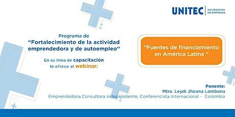 Webinar: Fuentes de financiamiento en América Latina entradas