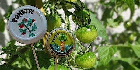 Atelier Recyclage de couvercle de pot en étiquette de légume billets