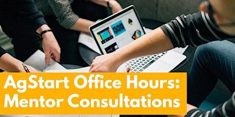 AgStart Office Hours - Mentor Consultations - October 6, 2020 tickets