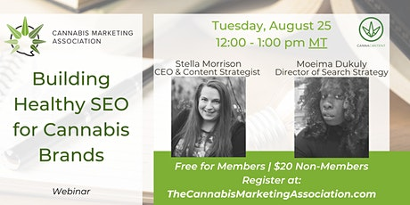 Building Healthy SEO for Cannabis Brands tickets