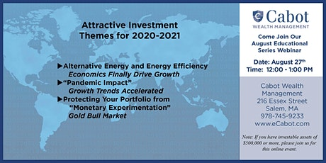 Attractive Investment Themes for 2020-2021 tickets