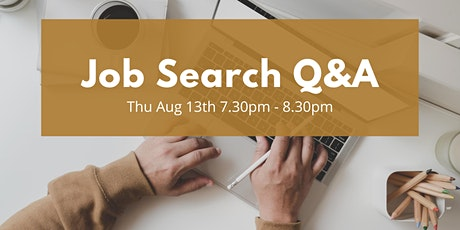 Job Search Q&A - free session to ask any questions you have tickets
