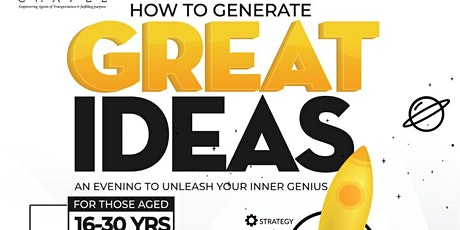 HOW TO GENERATE GREAT IDEAS tickets