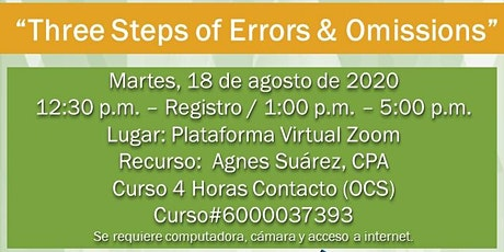 Three Steps of Errors & Omissions tickets