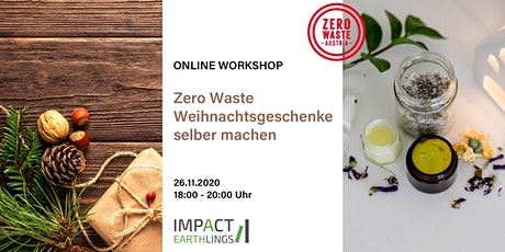 ONLINE Workshop - Zero Waste Weihnachtsgeschenke selber machen Tickets