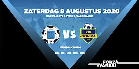 KFCVarsenare - KSV Diksmuide VOORMIDDAG U8-9-12-13 tickets