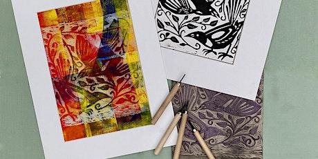 Linocut Printing tickets