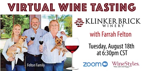 Klinker Brick Wine Tasting with Farrah Felton-Jolley tickets