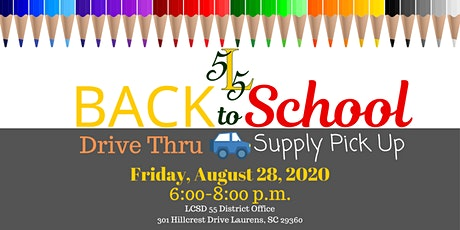 LCSD 55 Back To School Drive Thru Supply Pick Up tickets