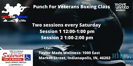 Punch for Veterans  Boxing Class tickets
