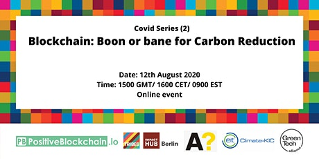 Webinar - Blockchain: Boon or bane for Carbon reduction biglietti