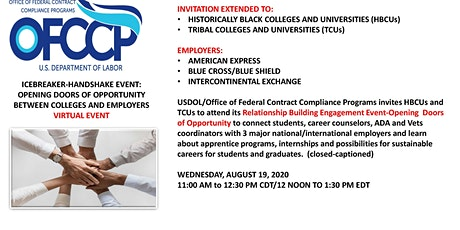 OFCCP HBCU and TCU EVENT:  OPPORTUNITIES BETWEEN COLLEGES/CONTRACTORS tickets
