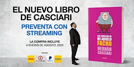 NUEVO LIBROS DE HERNÁN CASCIARI: «Preventa con Streaming» (ARS) entradas