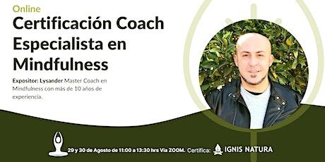 Curso Online Certificado Coach Especialista en Mindfulness entradas