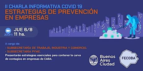 Estrategias de prevención en empresas - II Charla informativa COVID-19 entradas