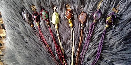 Begginers  macrame necklace workshop tickets