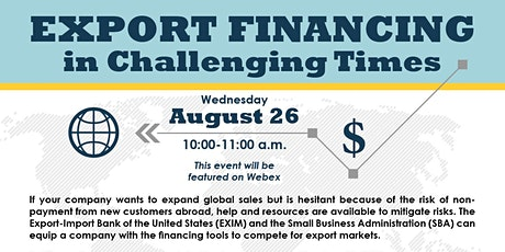 Export Financing in Challenging Times tickets