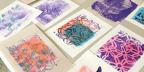 Outdoor Art Class: Monotypes Using Gelatin Plates tickets