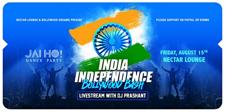 NVCS Jai Ho! India Independence Day Bollywood Dance Party (live stream) tickets