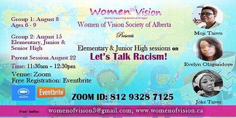 Let's Talk Racism - Elementary, Junior & Senior High School and Parents tickets