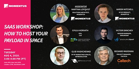 SaaS Workshop: How to Host your Payload in Space tickets
