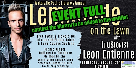 Lemonade on the Lawn - Illusionist Leon Entienne tickets