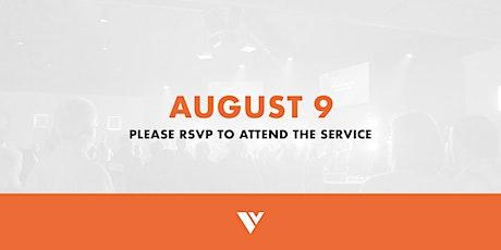 RSVP - August 9 Service tickets