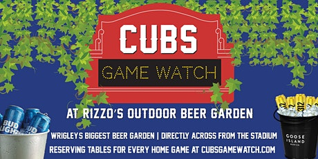 Cubs Game Watch at Rizzo's Outdoor Beer Garden (vs. Cleveland Indians) tickets
