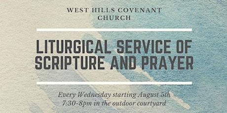 Liturgical Service tickets