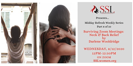 Midday Refresh 8 /10: Surviving Zoom Meetings: Neck- Back Relief by Darlene tickets