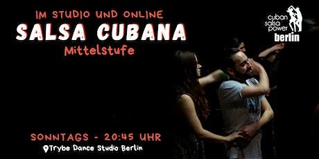 Salsa Cubana Mittelstufe - Studio und Online Tickets