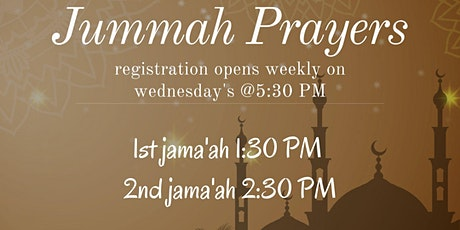 Jummah prayers tickets