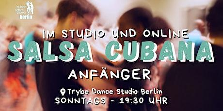 Salsa Cubana Anfänger - Studio und Online Tickets