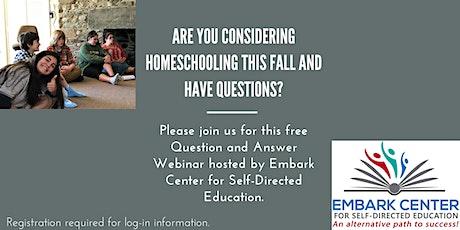Homeschooling Help Q&A tickets